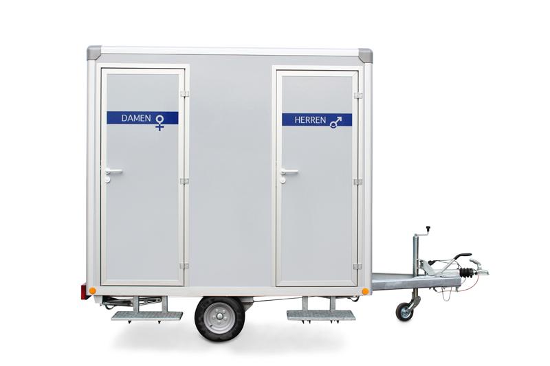 Toilettenwagen 1&1+1 Ansicht von vorne