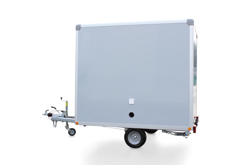 Toilettenwagen von hinten