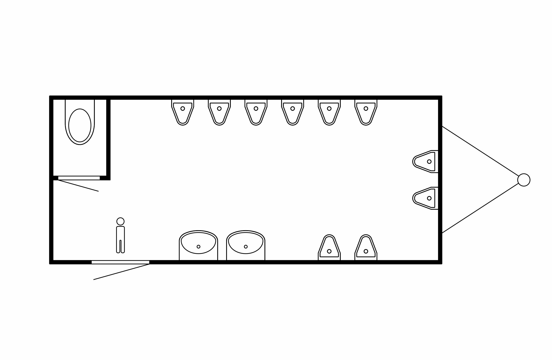 Urinalwagen Grundriss